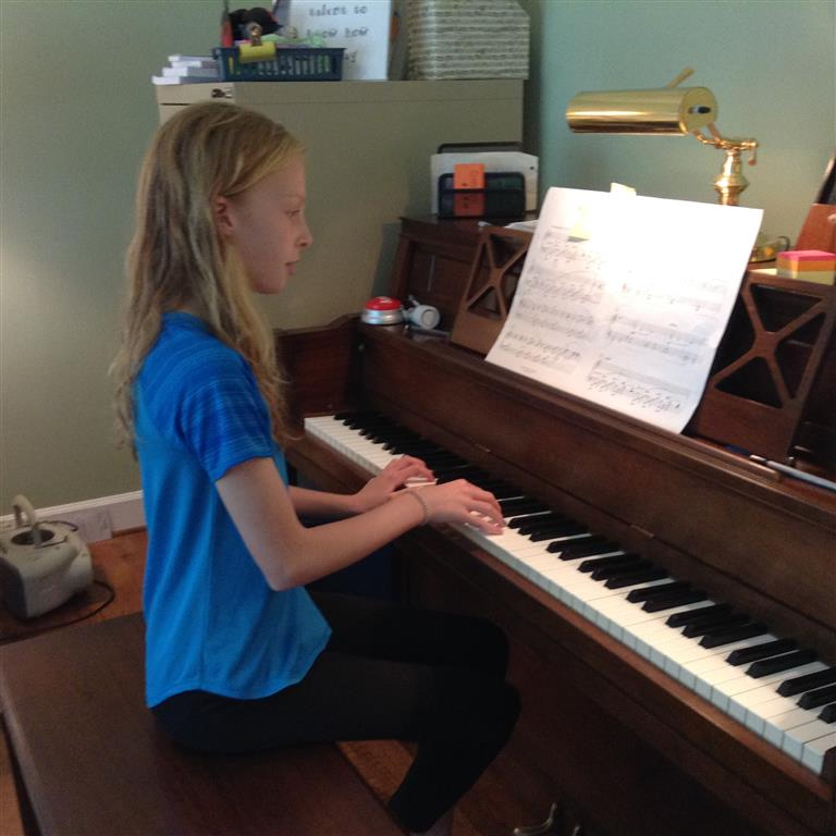 Creativity and expression are encouraged at piano lessons.
